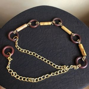 Chain Link Belt with Wood Accents